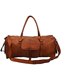 "Handcraft's ""Sam"" 100% Genuine Leather Vintage Hand Messenger Bag Travel Bag Cargo Duffel Bag"