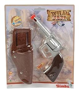 Simba 108021939 - Westernset con el sonido, incluyendo revólveres y bolsa de transporte
