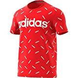 adidas Graphic T- T-Shirt Homme, Active Red/White, FR : S (Taille Fabricant : S)