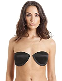 By Wishes Womens Black Self Adhesive Staykup Bra