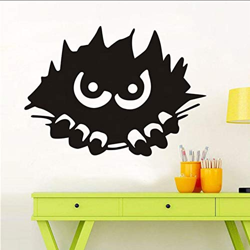 Chellonm Monster Spähen Halloween Wandaufkleber Stalking Scary Monster Wandtattoo Abnehmbare Pvc Wandkunst Für Kinderzimmer Vinyl Poster 57 * 41 Cm