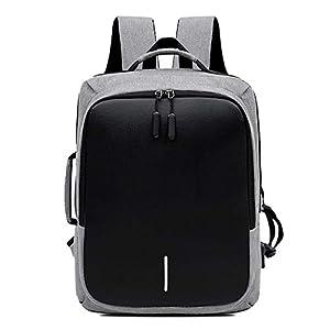 FANDARE Antirrobo Laptop Mochila con Puerto de USB Tira Reflectante Hombres/Mujeres Bolso de Mano Impermeable Bolso de Escuela Outdoor Viaje Camping Rucksack Poliéster Gris