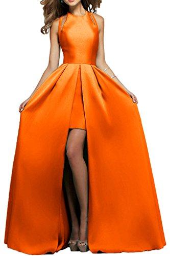 Royaldress Orange Elegant Satin Cocktailkleider Abendkleider Promkleider Partykleider Bodenlang festlichkleider Orange