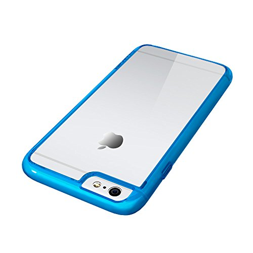 iPhone 6S Plus Fall, luvvitt [Clearview] iPhone 6Plus Case Bumper [Hybrid klare Sicht Armor Series Backcover] [Crystal Clear] L Bumper Hülle für iPhone 6Plus 14cm Display–Crystal Clear Clear / Transparent Blue