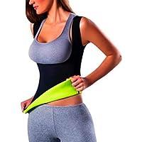 B&N Mujer Camisetas Sauna Adelgazantes para Mujer Chaleco de Neopreno Corset - Talladora de la Cintura para Yoga - Faja Abdomen (L)