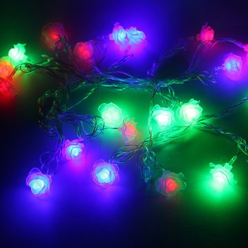 Modeling White Rose RGB 4M LED String Christmas Lights For Holiday Party Decoration