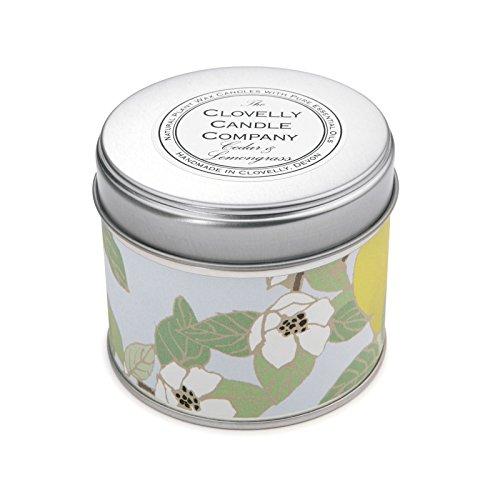 Clovelly Candle Co. Natürliche Handgefertigte Duftende große Dosenkerze Zedernholz & Zitronengras aus Sojawachs