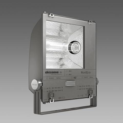 Disano 1804 Rhodium-3 symétrique-Projecteur Halogène Noir 400 W avec Lampe
