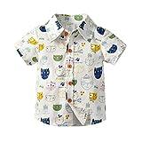Obestseller Jungenbekleidung,Kleinkind Baby Kinder Jungen Gentleman Cartoon Bär gedruckt T-Shirt Tops Kleidung,Kinder Kurzarm Gentleman Shirt Top T-Shirt,Sommerkleidung