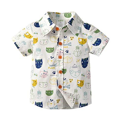 kleidung,Kleinkind Baby Kinder Jungen Gentleman Cartoon Bär gedruckt T-Shirt Tops Kleidung,Kinder Kurzarm Gentleman Shirt Top T-Shirt,Sommerkleidung ()