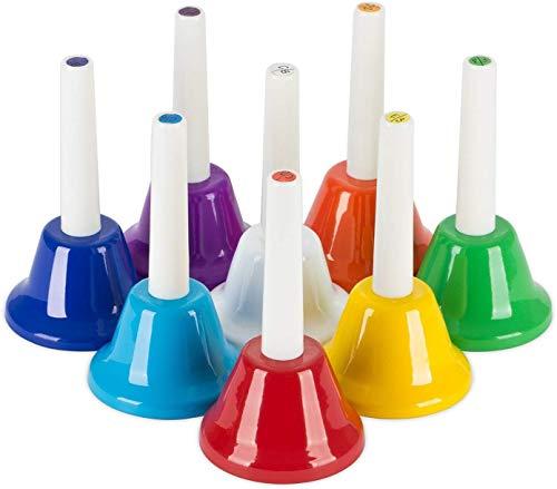 OriGlam 8. note diatonischen metall hand glocken set musikinstrument für junge kinder musical spielzeug percussion - instrument