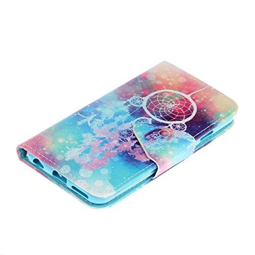 iPhone 6 6S Cover,Flip Cover Portafoglio Guscio Protettiva Custodia in Pelle per iPhone 6 6S Wallet Case Casi Caso Con carte di credito slot,Cozy Hut Elegante borsa Custodia in Pelle Protettiva Flip P colore Campanula