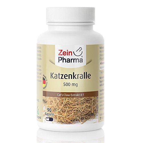 Katzenkralle 4:1 Extrakt mit sehr hohem Wirkstoffgehalt, dank 4 zu 1 Extrakt mit 500mg pro Kapsel | Entdecken Sie die Vorzüge des Wirkstoffes aus der Rinde der Katzenkralle | Original aus Südamerika! | 90 vegetarische Kapseln | Hervorragende Qualität | Hochwertige und Absolut unbedenkliche Rohstoffe | Hochdosiert | Hergestellt in Deutschland | Deutsche Labore geprüft | Apothekenbescheinigung | Pharmazeutische Qualität |–100% GELD-ZURÜCK-GARANTIE – Hergestellt durch ZeinPharma Germany® (Tee Mens Probleme)
