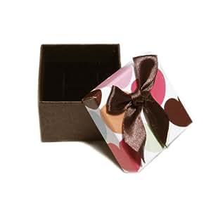 Ecrin Boite Bijoux Cadeau - Motif Coeur Noeud Papillon