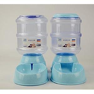 XJX BRAND Automatische Futterautomat Feeder/Waterer mit 3,8 L Volumen Für Hund/Katze Entwickelt,Blue