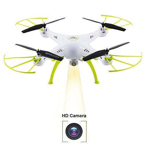 Syma X5HC Drone RC Quadcopter 2.4GHz 4CH 6 Axis con 2.0MP HD Camera Barometro Altitudine Attesa RC Telecomando Drone, Bianco