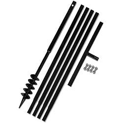 Tidyard Bêche et Tarière Manuelle 80mm | Mèche Jardin Tarière | Outil de Plantation Pratique avec Rallonge Mèche Tarière 5m