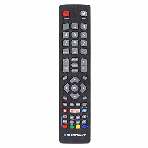 Blaupunkt BLF/RMC/0008 Telecomando originale per LCD LED 3D Smart TV HD con pulsanti 3D Youtube di Netflix - Con due batterie AAA 121AV incluse