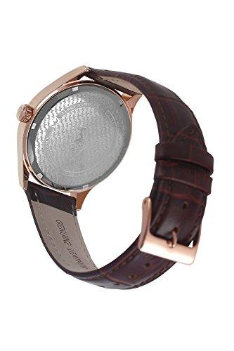 Yonger & Bresson–UNHCR 1708–72–Herrenuhr–Quarz–Analog Zifferblatt Beige–Armband Leder braun - 2