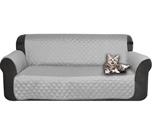 gzq Sofa, 2-Sitzer Mikrofaser-Möbel Couch Displayschutzfolie Strechhusse für Haustier Hund Katzen 116cm x 188cm/114,3x 188cm grau