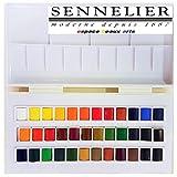 Sennelier Boîte de Peinture Aquarelle en Plastique, 36 Couleur,Made in France