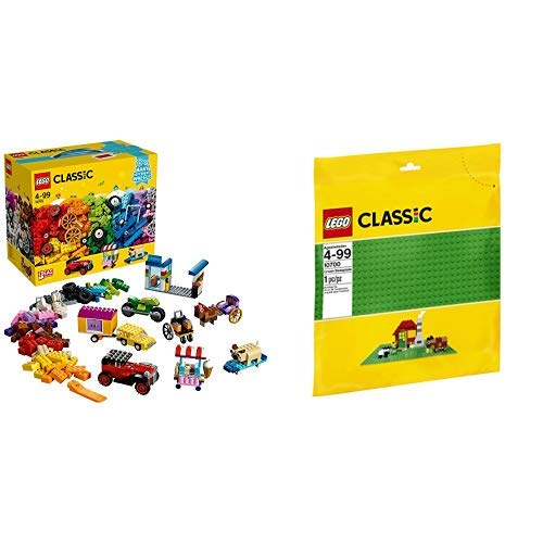 LEGO Classic 10715 - Kreativ-Bauset Fahrzeuge, Spielzeug &  Classic 10700 - Bauplatte