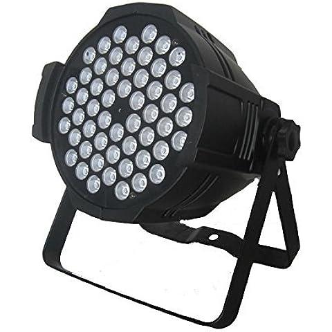FARO STROBO RGB W DJ FARETTO LAMPADA 54 LED DA 54W COLORI EFFETTO DISCOTECA SENSORE SONORO MIC DMX CONTROL PROGRAMMABILE FUTUR PRINT®