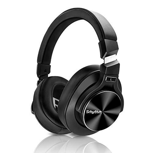 Aktive Noise Cancelling Kopfhörer Bluetooth Over-ear,Srhythm NC75 Kabelloser Kopfhoerer mit Eingebauten Mikro,40mm HD Treiber,HiFi,CVC6.0,NFC,für Alle Geräte mit Bluetooth