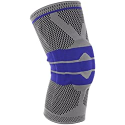 Kompressions-Kniebandage für Sport, Unterstützung für Laufen, Wandern, Training, Basketball, rutschfeste Kniebandage zur Schmerzlinderung Meniskus, Gelenk, Arthritis und Verletzungen