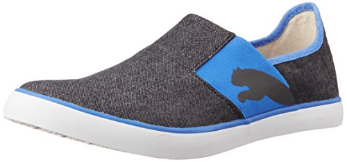 Puma Unisex Lazy Slip On II DP Black and French Blue Canvas Sneakers – 11 UK 41a2miS1wgL