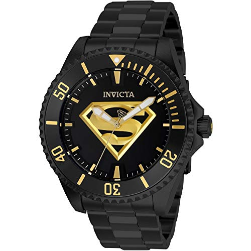 Invicta Men's DC Comics 47mm Black Steel Bracelet & Case Automatic Analog Watch 26897