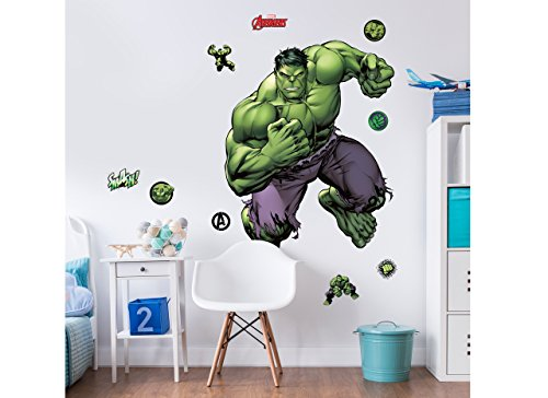 Walltastic Marvel Hulk, großer Figuraufkleber, Vinyl, bunt, 7 x 7 x 52.5 cm