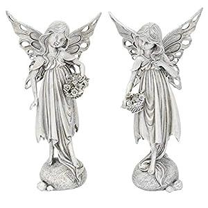 Dio dekorative ausgefallene Deko-Figur Elfe Fantasy-Figur Polystone antikgrau Preis für 1 Stück