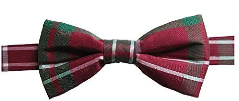 Nœud papillon pré-noué soie motif à carreaux, disponible dans plusieurs couleurs - multicolore - Taille Unique