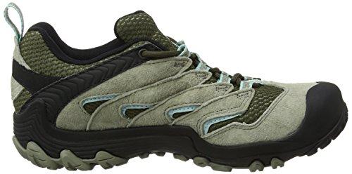 Merrell Cham 7 Limit Waterproof, Stivali da Escursionismo Donna Verde (Dusty Olive)