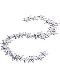 50pcs Stern Star Hotfix Bügel Nieten Zum Aufbügeln 7.5mm Silber