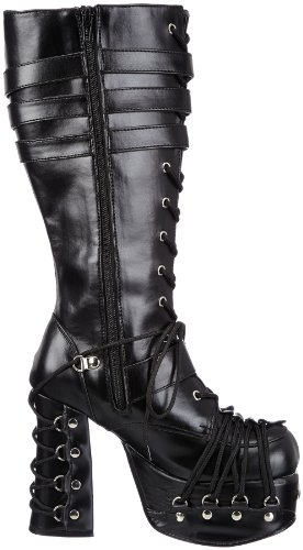 Demonia Charade-206, Stivali Donna Nero (Blk Vegan Leather)