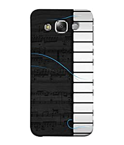 Samsung Galaxy E5 (2015) , Samsung Galaxy E5 Duos, Samsung Galaxy E5 E500F E500H E500Hq E500M E500F/Ds E500H/Ds E500M/Ds Back Cover Piano Notes And Keys Design From FUSON