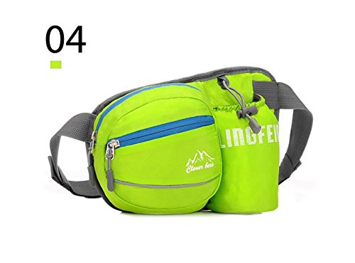 Zll/tragbar Tasche Lady Outdoor kleinen Brüste für Herren Casual fließendem Wasser Flasche Bag Sport Taschen Grün
