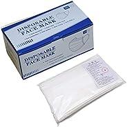 100 قطعة للاستعمال مرة واحدة من ثلاث طبقات لحماية الوجه والنظافة الجراحية وتنظيف الغبار للأسنان.