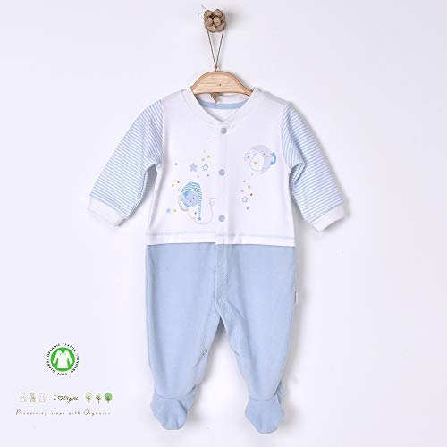 Sevira Kids - Pyjama grenouillère dors-bien en coton biologique et velours Dreams