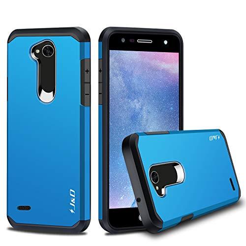 LG X Power 2 Hülle, J&D [ArmorBox] [Doppelschicht] [Heavy-Duty-Schutz] Hybrid Stoßfest Schutzhülle für LG X Power 2 - Blau