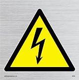 Viking Schilder we94-s40-s Elektrische Warnung Symbol Zeichen, starr silber Kunststoff, 400mm H x 400mm W