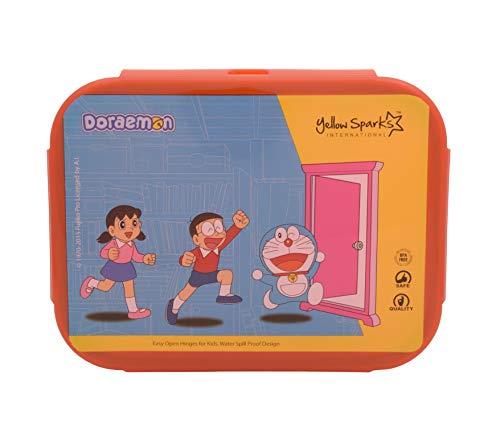 Yellow Spark International Yellow-Red Doraemon Flexi Partition Lunch Box