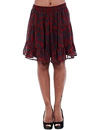 Vero Moda Skirt Women Bordeaux 10195571 VMKATINKA NW ABK Skirt SB1 Sun-Dried TOMAT/TATINKA