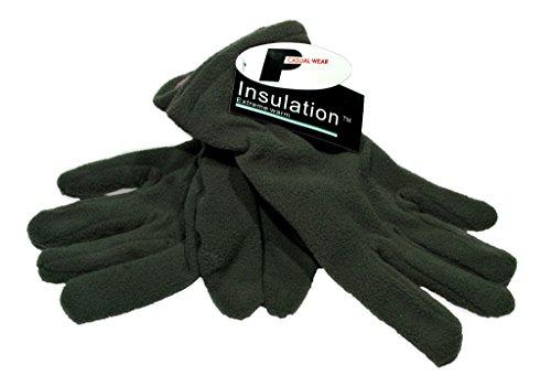 Damen- Polar- Handschuhe Fleece mit Insulation- Wärmeisolierung Winterhandschuhe (Grau) (Polar-fleece-handschuhe)