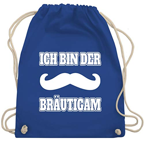 JGA Junggesellenabschied - JGA Schnurrbart - Ich bin der Bräutigam - Unisize - Royalblau - WM110 - Turnbeutel & Gym Bag