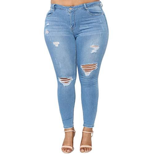 Damen Lose Tasche Denim Slim Hose Yogogo Hohe Taille Sommer Übergröße Hosen Loch Yoga Leggings Lange Jeans Bleistift Pants 3/4 Tummy Control Laufhose Druck Sport Fitness Leggins Dünne Sporthose Control-fit-jeans
