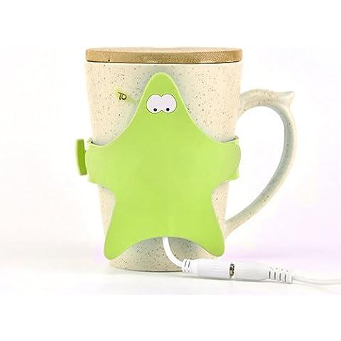 DSstyles Starfish USB a Forma di Tazza di Caffè Warmer Pad - Verde