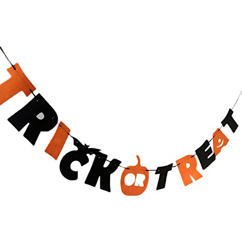 Treat Trick Dekorationen Or (Leisial Halloween Banner Halloween Dekorationen Trick or Treat Banner Halloween - party)